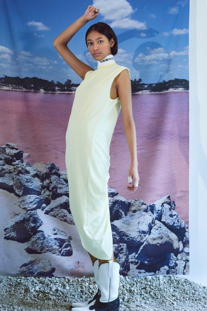 Vestido de la marca Cueva, moda mexicana sustentable sin temporadas ni colecciones