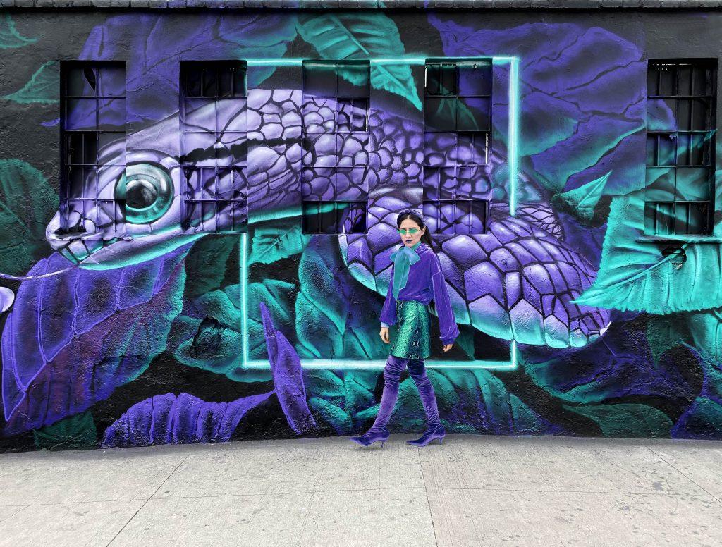 Matching Melania en grafiti urbano
